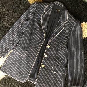 Escada Pinstripe Jacket and Pants Suit